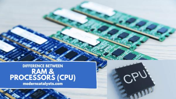difference between PRAM & PRocessors (CPU)