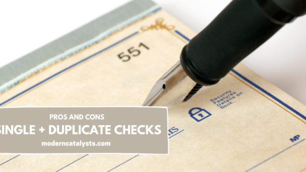 pros and cons of single and duplicate checks