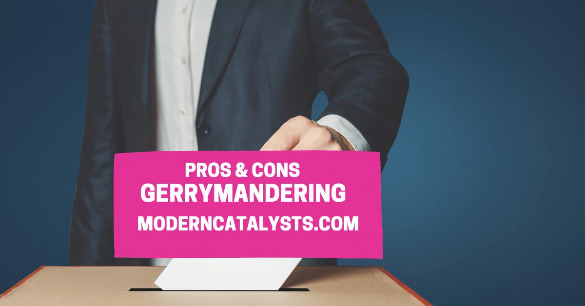 pros cons gerrymandering