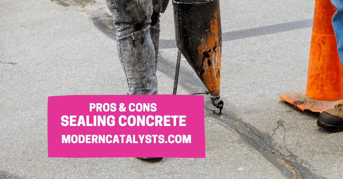 pros cons sealing concrete driveway